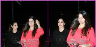 Sridevi and Khushi Kapoor make a happy appearance at airport