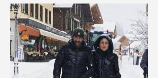 Saif Ali Khan, Kareena Kapoor and Taimur Ali Khan holiday in Switzerland