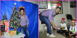 Tusshar Kapoor celebrates Christmas with children of Smile Foundation