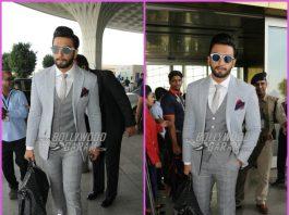 Ranveer Singh looks dapper in formals at airport