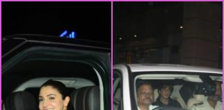 Anushka Sharma and Shah Rukh Khan on their way back home post Zero shoot