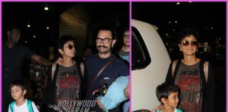 Aamir Khan, Kiran Rao and Azad Rao Khan return from New Year holidays