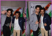 Sidharth Malhotra and Manoj Bajpaye have fun at promotions of Aiyaary