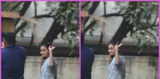 Alia Bhatt waves for cameras post workout