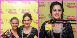 Taapsee Pannu and Srishti Shrivastava promote Dil Juunglee at Radio Mirchi