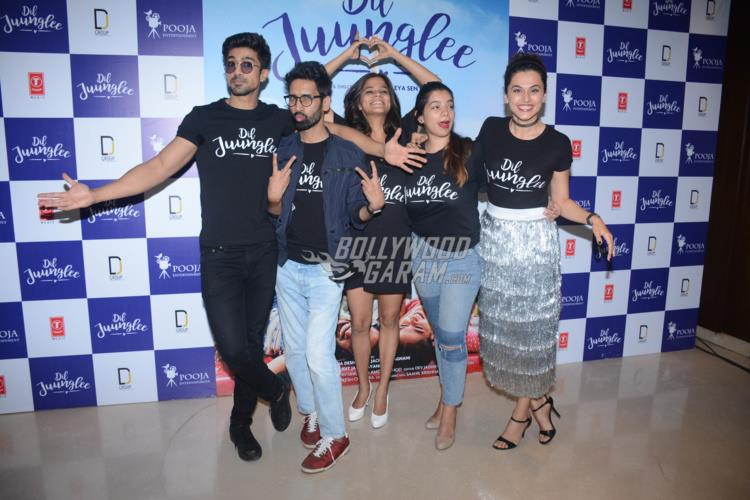 Taapsee Pannu, Saqib Saleem launch 'Dil Juunglee' trailer with their fellow co-stars