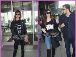 Esha Gupta and Kriti Sanon make a style splash at airport