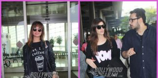 Esha Gupta and Kriti Sanon make a style splash at airport