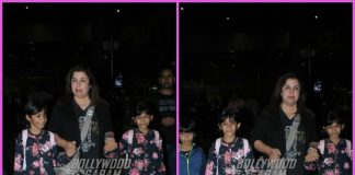 Farah Khan makes a stylish appearance at airport with her triplets