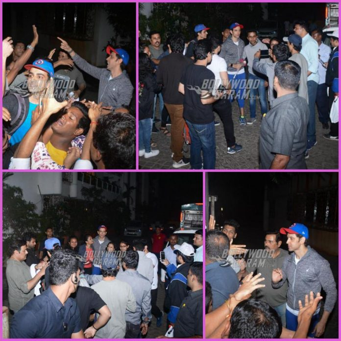 Hrithik birthday with fans