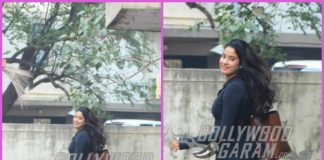 Janhvi Kapoor smiles for cameras post workout session