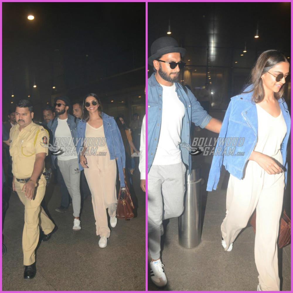 Deepika Padukone, Ranveer Singh back from Sri Lanka Vacation