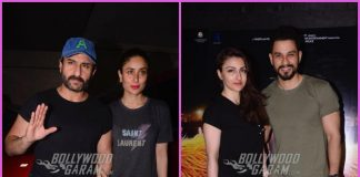 Saif Ali Khan and Kareena Kapoor at special screening of Kaalakaandi