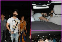 Mira Rajput and Misha Kapoor receive Shahid Kapoor at airport