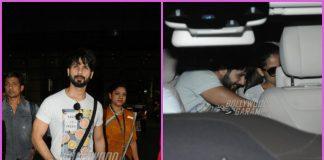Mira Rajput and Misha Kapoor receive Shahid Kapoor at airport