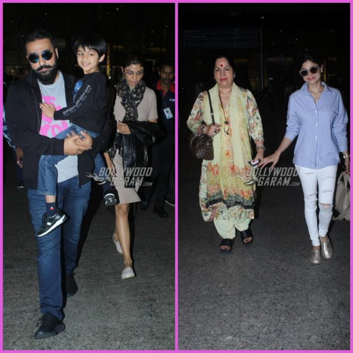 Shilpa shetty airport