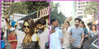 Shahid Kapoor and Mira Rajput mobbed by fans
