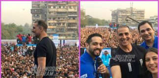 Akshay Kumar flags off Marathon while promoting Padman