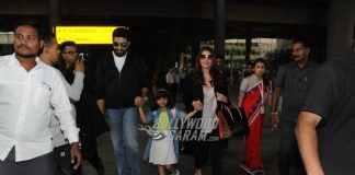 Aishwarya Rai Bachchan, Aaradhya Bachchan and Abhishek Bachchan make a happy return from Australia