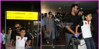 Ajay Devgn and Kajol return from Anniversary celebrations in Singapore