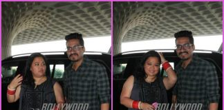 Bharti Singh and Haarsh Limbachiyaa make an adorable appearance at airport