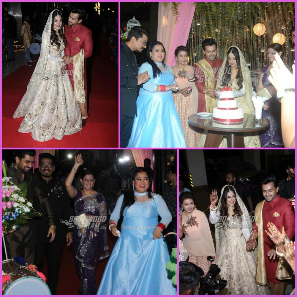 Dipika Kakkar and Shoaib Ibrahim pose in royal outfits at wedding reception