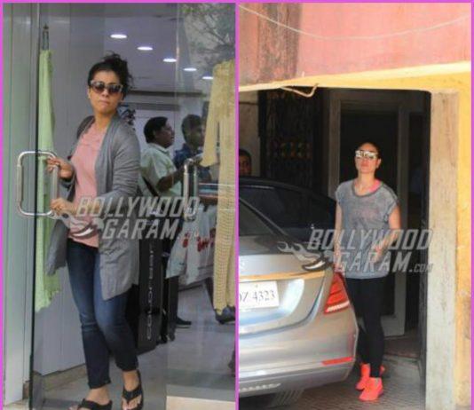 Kajol goes shopping while Kareena Kapoor goes gymming