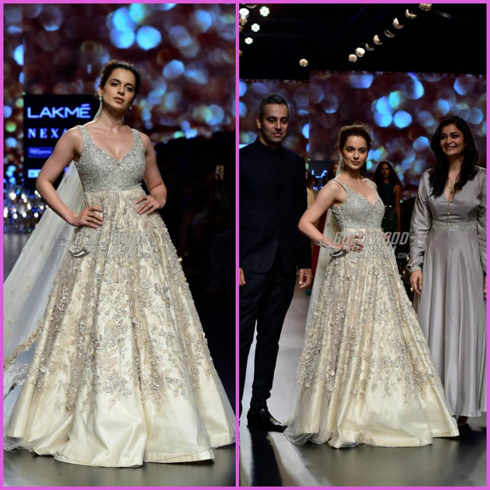 11da9fcbcc7f Kangana Ranaut reminded of her ramp walks in the film Fashion, as she  turned showstopper for designer Shyamal and Bhumika at the grand finale of  the Lakme ...