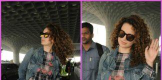 Kangana Ranaut waves in style for paparazzi at airport