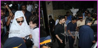 Close friends Rekha, Karan Johar and Manish Malhotra at Anil Kapoor's residence