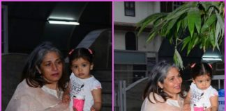 Misha Kapoor spends time with grandmother outside playschool