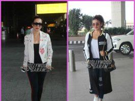 Malaika Arora and Raveena Tandon make a stylish appearance at airport