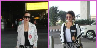 Malaika Arora and Raveena Tandon make a stylish appearance at airport
