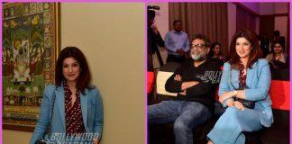Twinkle Khanna and R Balki  promote Padman