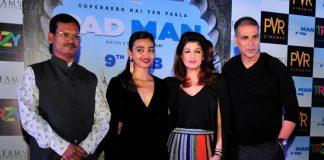 Akshay Kumar, Twinkle Khanna and Radhika Apte promote Padman in Delhi