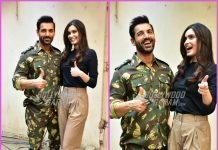 John Abraham and Diana Penty at promotional shoot of Parmanu – The Story of Pokhran