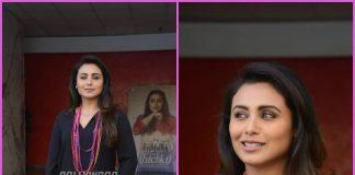 Rani Mukherji promotes Hichki in style