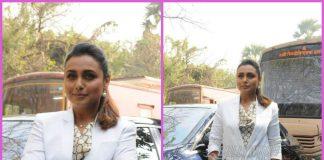 Rani Mukerji promotes Hichki in style