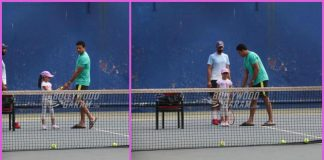 Mahesh Bhupathi trains daughter Saira Bhupathi for Tennis