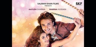 Loveratri first poster featuring Aayush Sharma and Warina Hussain out on Valentines Day