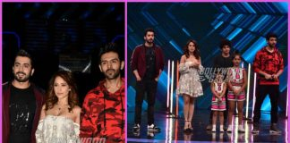 Lead cast of Sonu Ke Titu Ki Sweety promote on sets of Super Dancer Chapter 2
