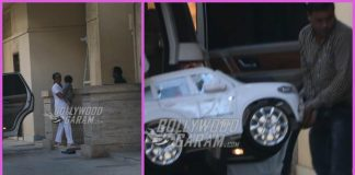 Taimur Ali Khan brings his car to Amrita Arora's house