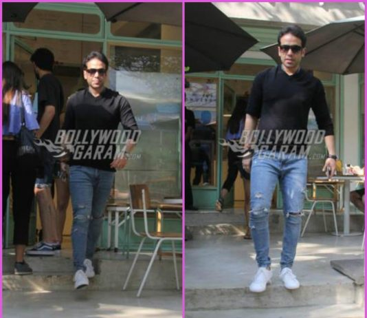 Tusshar Kapoor spends leisure time at a café