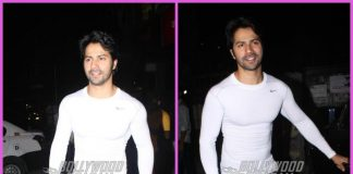 Varun Dhawan smiles and poses for paparazzi post workout