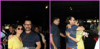 Kiran Rao receives husband Aamir Khan with a kiss and hug at airport