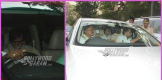 Shah Rukh Khan, Rani Mukerji and Amitabh Bachchan at the funeral of Sridevi