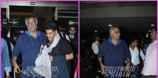 Boney Kapoor and Anil Kapoor return from Haridwar after performing rituals