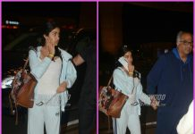 Boney Kapoor sees off Janhvi Kapoor at airport