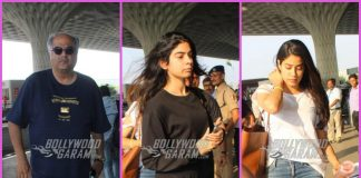 Janhvi Kapoor, Khushi Kapoor and Boney Kapoor leave for Chennai for prayer meet