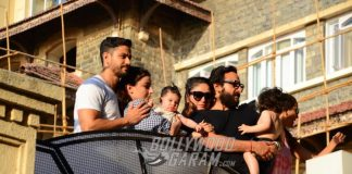 Star kids Taimur Ali Khan and Inaaya Naumi Kemmu spend play time with families